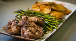 Grilled Lamb Chops with Rosemary and Garlic
